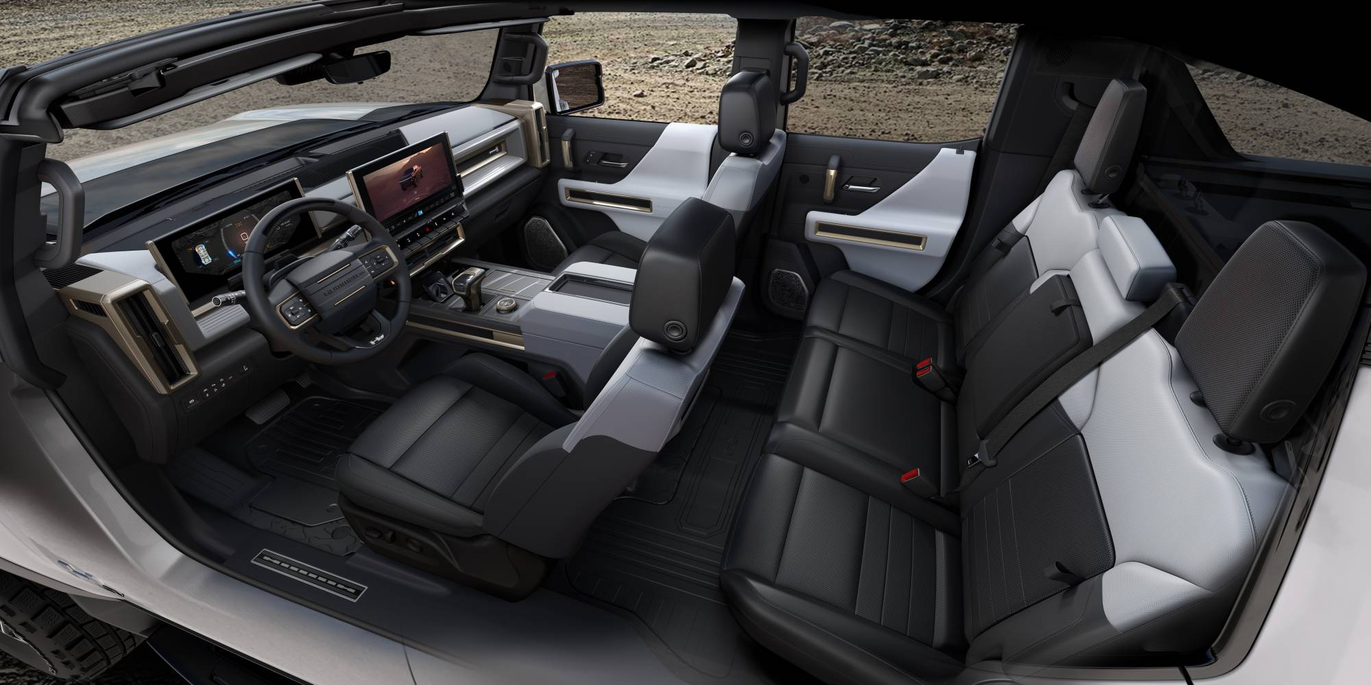 General Motors' Hummer electric vehicle will be free of leather.   GENERAL MOTORS / VIA THE NEW YORK TIMES
